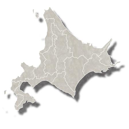 北海道地図アイコン  イラスト・ベクター素材