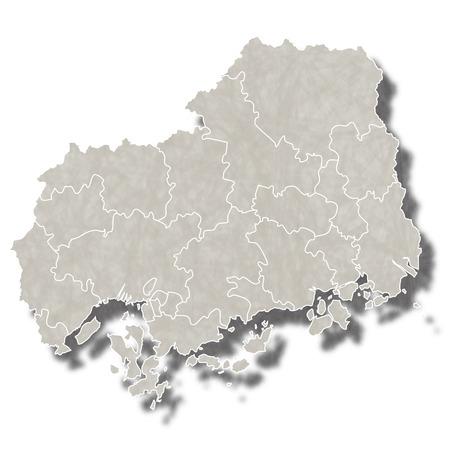 広島日本地図アイコン  イラスト・ベクター素材