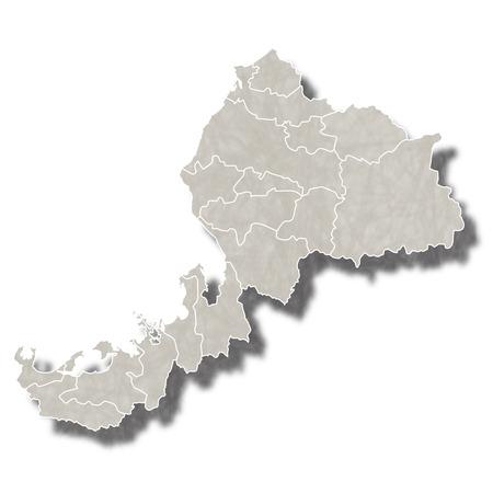 福井日本地図アイコン  イラスト・ベクター素材