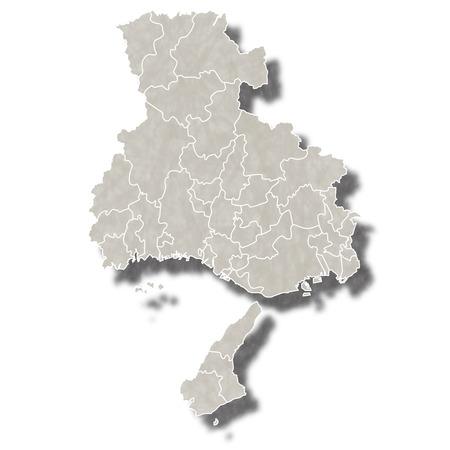 Hy?日本地図アイコンを行く  イラスト・ベクター素材