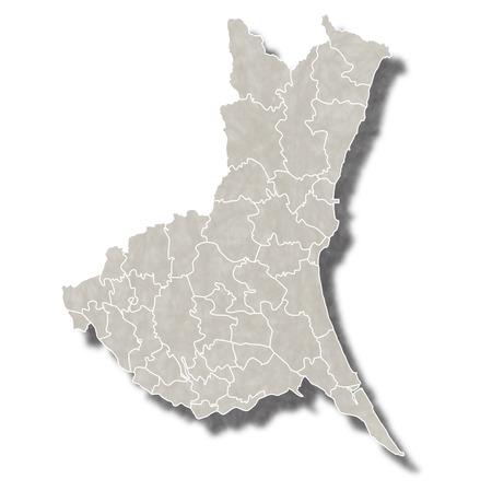 茨城日本地図アイコン  イラスト・ベクター素材