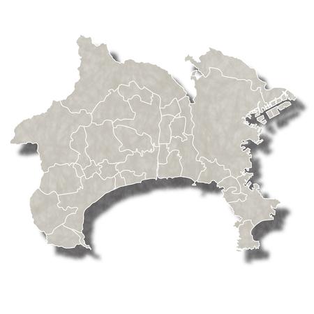 神奈川県日本地図アイコン