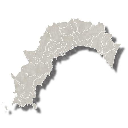 高知日本地図アイコン  イラスト・ベクター素材