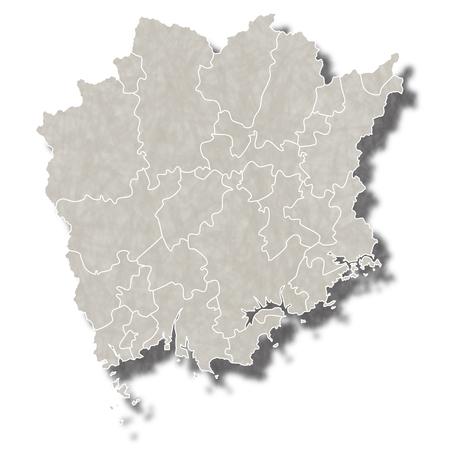 岡山日本地図アイコン  イラスト・ベクター素材
