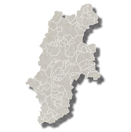 長野県日本地図アイコン
