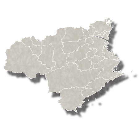 徳島日本地図アイコン  イラスト・ベクター素材