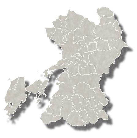 熊本日本地図アイコン  イラスト・ベクター素材