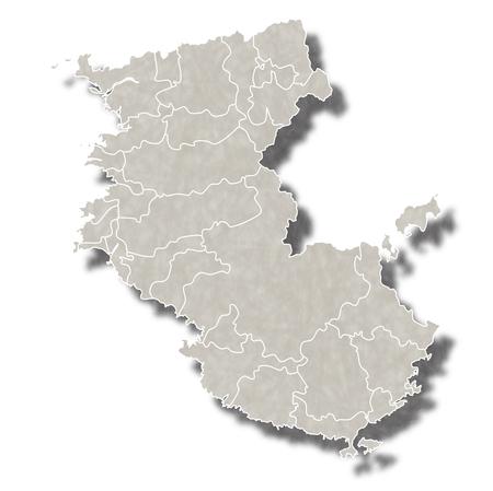 和歌山日本地図アイコン  イラスト・ベクター素材