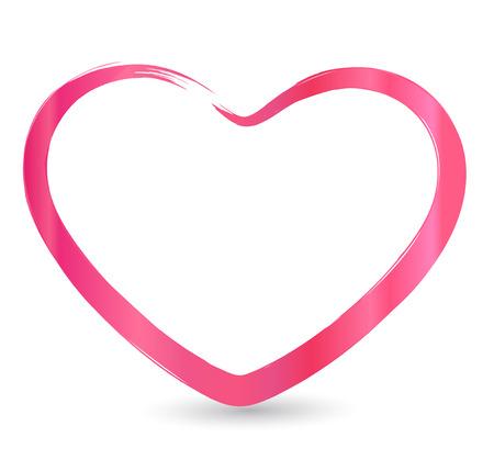 バレンタインのハートのフレーム アイコン