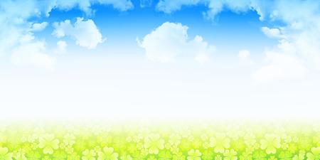 Clover grass green background