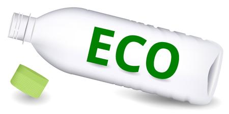 ペットボトル エコの緑アイコン