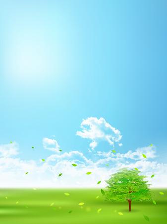Fresh green natural scenery background