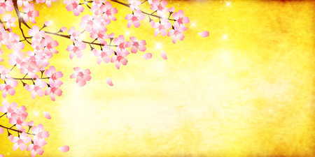 cuteness: Cherry spring flower background Illustration