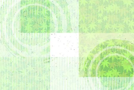 新しい緑のカエデ和紙の背景