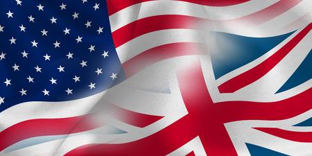 アメリカ イギリス国旗背景  イラスト・ベクター素材