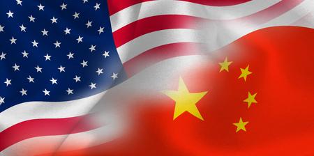 America China flag background