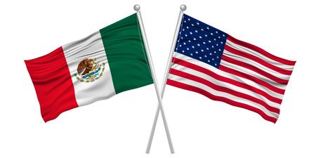 アメリカ メキシコ国旗アイコン