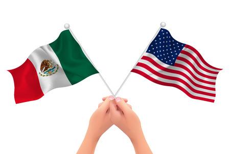 アメリカ メキシコの手のアイコン