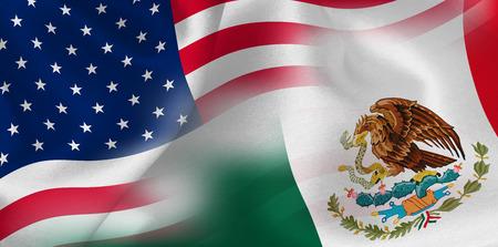 America Mexico Flag Background Vettoriali