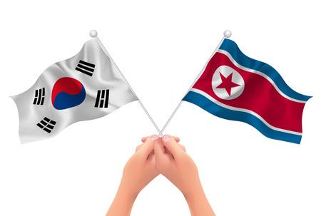 paul: South Korea North Korea hand icon