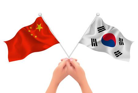 paul: China Korea hand icon
