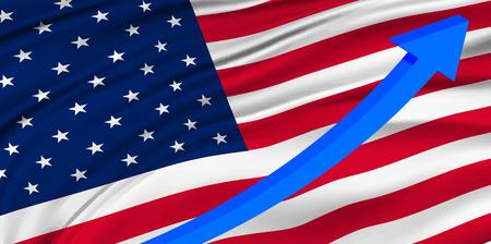 America Flag graph background