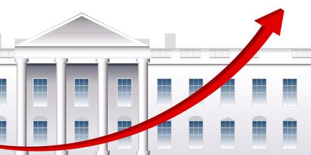 America White House Graph Background Illustration