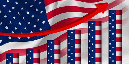 elongation: America Flag graph background