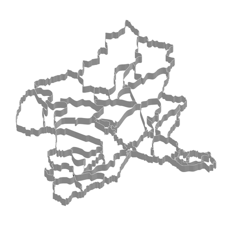 群馬県地図のフレーム アイコン