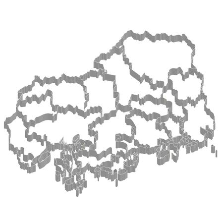 広島県地図フレーム アイコン