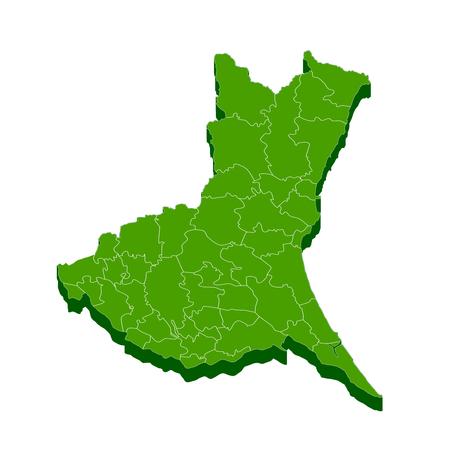 茨城県地図フレーム アイコン