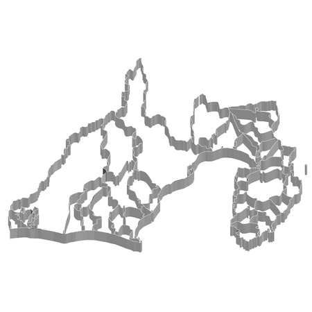 静岡県地図フレーム アイコン