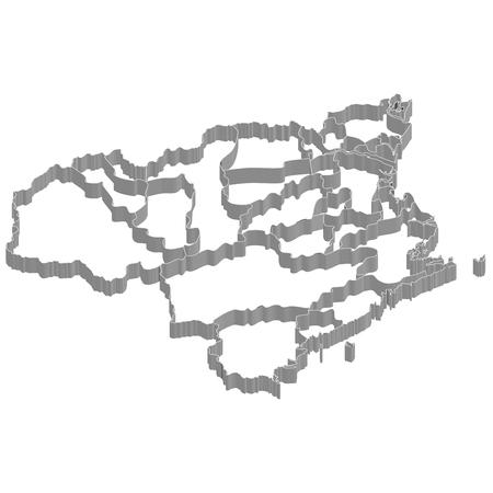 徳島県地図フレーム アイコン  イラスト・ベクター素材