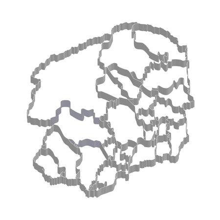 栃木県地図フレーム アイコン