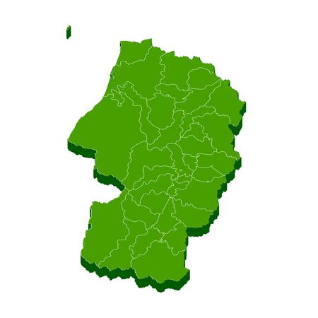 山形県地図フレーム アイコン