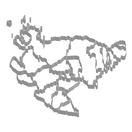 佐賀県地図フレーム アイコン  イラスト・ベクター素材