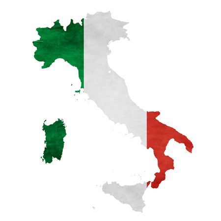 Italy Map National flag icon