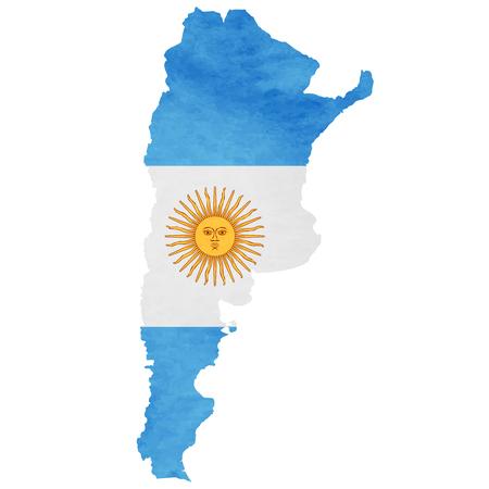 아르헨티나지도 국기 아이콘