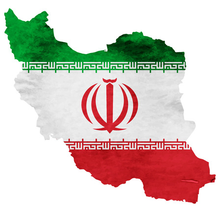 Iran Map National flag icon 向量圖像