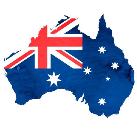 bandera japon: Australia Mapa Icono de la bandera nacional