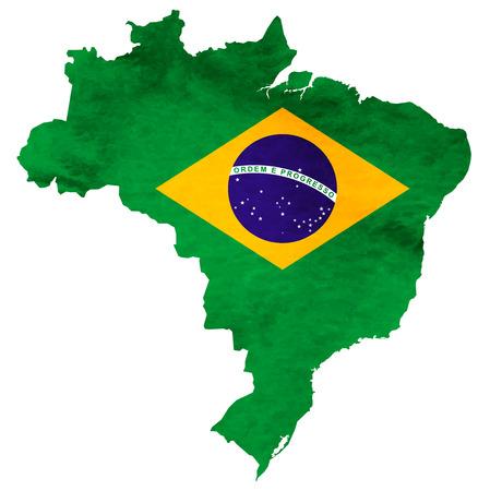 Brazil Map National flag icon 版權商用圖片 - 75342212