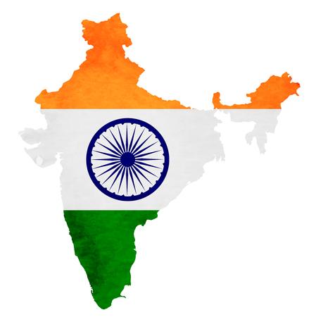India Map National flag icon Illustration