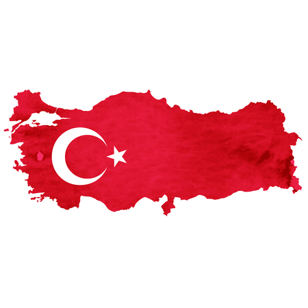 Turkey Map National flag icon Stock Vector - 75275908