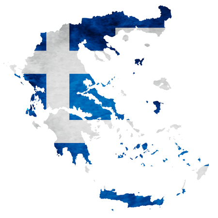 Greece Map National flag icon