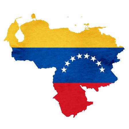Venezuela Mapa Icono de la bandera nacional Foto de archivo - 75275922