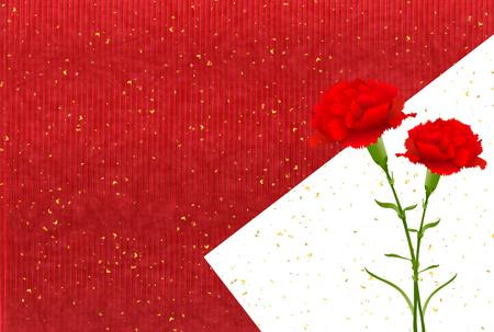 Mother's Day Carnation Spring background Vektoros illusztráció