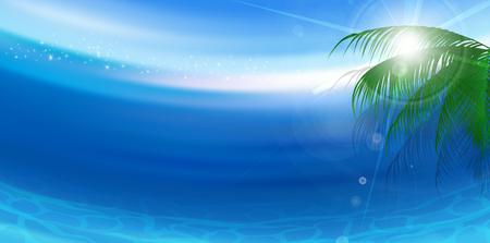 Sea landscape Summer background