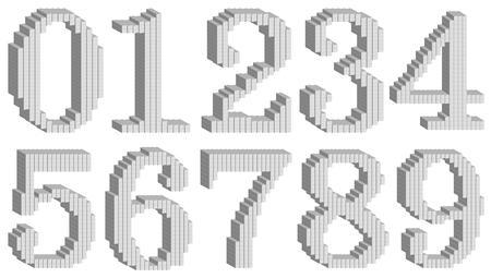 数値キューブ ステレオ アイコン