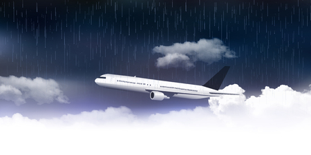 Rainy rainy season airplane background