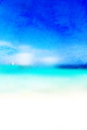 Sea summer sky background Illustration